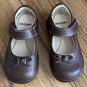 Pediped Flex Becky Brown Mary Jane Shoes